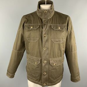 KUHL Size L Brown Solid Cotton Blend Zip & Buttons Jacket