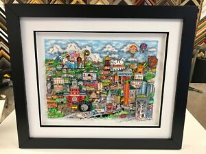 """Charles Fazzino 3D Artwork """" Make It Detroit """" Signed & Numbered Framed Deluxe"""