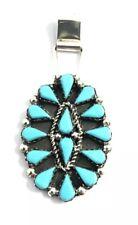 Sleeping Beauty Turquoise Pendant Native American Navajo Handmade Zuni