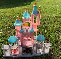Disney Parks Castle Princess Dollhouse Playset Light Up Cinderella Rare Elevator
