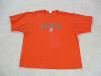 VINTAGE Miami Dolphins Shirt Adult 3XL XXXL Orange Green NFL Football Mens 90s*