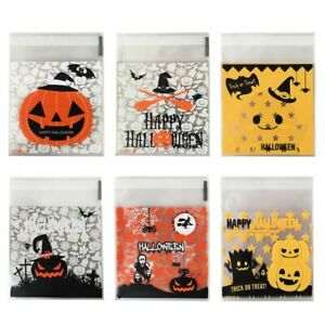 Kids Halloween Party Candy Bags Pumpkin Bat Trick Or Treat Cookie Snack Gift Bag