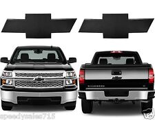 All Sales 96127K Front & Rear Black Billet Bowties For 2014-2015 Chevy Silverado