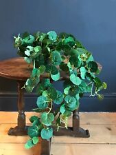Potted Artificial Trailing Ivy Plant. Realistic Green Faux Silk Houseplant
