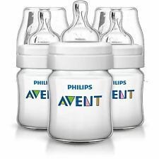 Philips Avent 3 X 125ml Triple pack 4oz Bottle Baby anti colic Classic Plus+