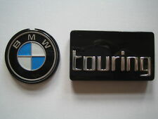 SET ORIGINAL BMW SYSTEMKOFFER EMBLEM 41mm + TOURING R850GS R1100GS R1150GS BADGE