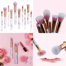 Kit 10x Pro Marbre Brosse Maquillage Fard Fond Teint Brush Pinceaux Cosmétique