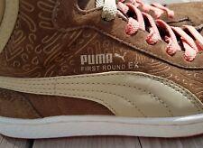 PUMA First Round EX BT Wren/Safari/Living Coral Pattern Sneakers RARE Women Sz 8