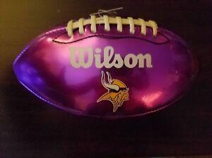MINNESOTA VIKINGS WILSON NFL AUTOGRAPH DISPLAY FOOTBALL FATHERS DAY GIFT NEW
