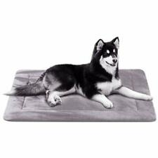 Dog bed Cat Bed Mat Large Soft Crate Pad Grey washable anti-slip kennel pad, 42""