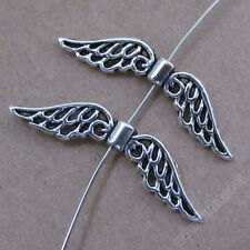 50x Retro Tibetan Silver Angel wings Spacer Beads Accessories DIY Findings 179AF
