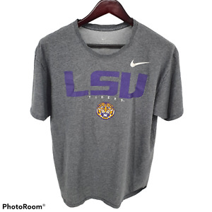 LSU Tigers Football Nike Short Sleeve T-Shirt Mens Medium Gray #16
