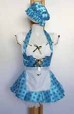 Blue Spotted Maid Country Girl Rag Doll Bathing Belle Fancy Dress Costume 810 12