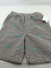 Boys Shorts Sz 10-12 Seersucker Kellys Kids Nautical Embroidered Whales Boutique