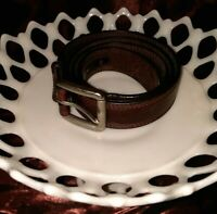 Ariat Men's Brown Triple Stitch Leather Belt A10004631 EUC Cowboy Rodeo