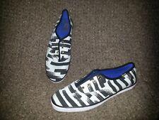 KEDS X PARTYSKIRTS-Black & White Shoes Stripes-SZ 6.5-New