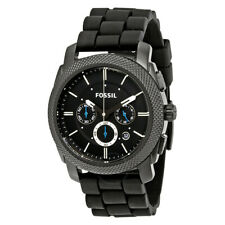 Fossil Men's Machine Stainless Steel & Silicone Chronograph Quartz Watch,FS4487