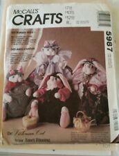 McCalls Creates Uncut Pattern 5987 Victorian Cat, Bunny And Clothes