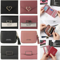 Women PU Leather Small Wallets Coin Clutch Card Holder Rivet Short Purse New