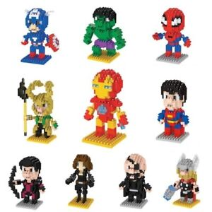 Micro Blocks Figurine Build Your Own DC Comics/Marvel Superhero