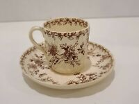 Porcelain Demitasse Cup Coffee Tea Hand Painted Saucer Bone China Limoges LS&S