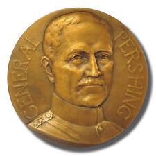 """Gen. Pershing, """"Achievements in Battle"""" 1918 Bronze Medal by J.P. Legostelois"""