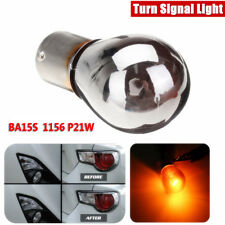 12V Chrome Sliver Amber Turn Signal Light Front Indicator Bulb 581 BAU15S P21W