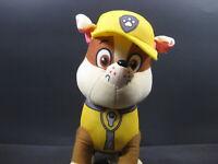 """RUBBLE PAW PATROL DOG Nickelodeon 9"""" Plush Toy Stuffed Puppy Yellow"""