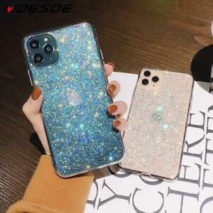 Case For iPhone XR 11 Pro Max 7 8 X XS Bling Glitter Clear Gel Phone Case Cover