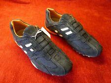 Geox Respira Uomo Snake UK 6.5 U4207lC4002 Men's Sneakers Slip on Shoe Navy Blue