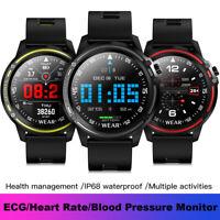 L8 Smart Watch IP68 Waterproof ECG PPG Blood Pressure Heart Rate Sports Bracelet