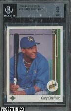 1989 Upper Deck UD #13 Gary Sheffield Brewers RC Rookie BGS 9 MINT