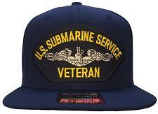 U.S. Submarine Service Veteran Hat Blue Ball Cap Navy Dolphin Hat OG SNAPBACK