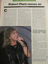 Robert Plant, Led Zeppelin, Full Page Vintage Clipping