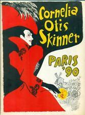 "Cornelia Otis Skinner ""Paris '90""  1952 Souvenir Program, Playbill and Stub"