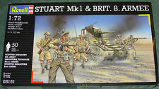 REVELL STUART TANK & BRITISH 8th ARMY FIGURES NEW MINT & SEALED 1/72