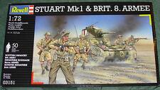 Revell Stuart Tanque & británico 8th Ejército Figuras nuevo como nuevo y sellado 1/72