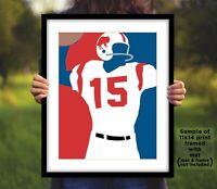 JACK KEMP Buffalo Bills Photo Art in 8x10 or 11x14 - AFL Football Picture Print