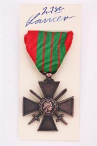 WW2 FRENCH CROIX DE GUERRE CROSS OF WAR MEDAL FULL SIZE 1930-40