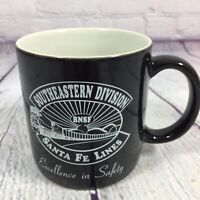 Vintage Santa Fe Lines Railroad Coffee Cup Mug BNSF Southeastern Division Safety