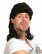 Mens 1980s REDNECK Mullet Wig Rock Rocker Punk Fancy Dress Costume Accessory