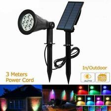 Solar Power Spot Lights 7 LED Garden Outdoor Path Landscape Lamp Wall I6V6