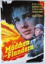 Ein Mädchen aus Flandern THE GIRL FROM FLANDERS -  original Filmplakat DIN A1
