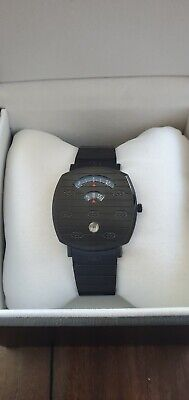 GUCCI Grip Collection Watch YA157429 38 mm Black Stainless Steel Bracelet