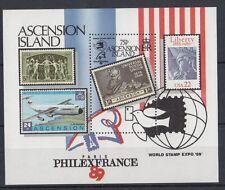 Ascension Island 1989 Foglietto Bf 20 esposizione filatelica mondiale Mnh