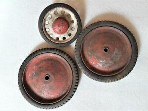 lot de 3 Anciennes roues de voiture à pédales