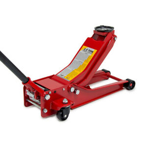 2.5 TONNE Low Profile Trolley Jack with Quick Lift 360° Rotating Handle