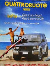 Quattroruote 430 1991 Presto la nuova media Alfa. Micro Peugeot. Mitsubishi Q97]
