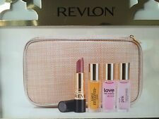 REVLON LOVE HER MADLY+PINK HAPPINESS+SIMPLY ENCHANTING+LIPSTICK+CASE GIFT SET
