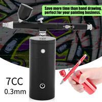 Mini Airbrush Air Compressor 0.3mm Gun Spray Airbrush Nail Art Paint Tattoo Tool